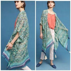 Anthropologie Subtle Luxury Piastrella Kimono